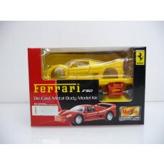 Ferrari F50 gelb Die-Cast Metal Body Model Kit MINI BAUSATZ Neuware