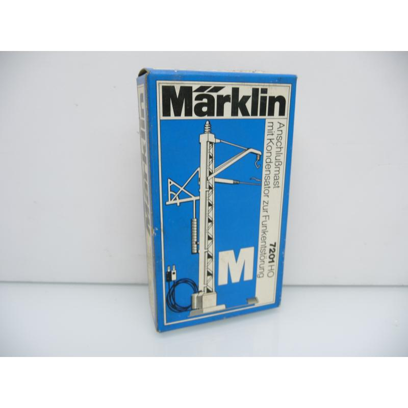 7201 Anschlußmast M-Gleis mit Kondensator Märklin H0