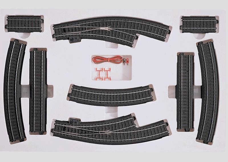 24904 C-Gleis Erweiterung zur Startpackungen um Ausweichgleis mit Bogenweichen - Märklin H0