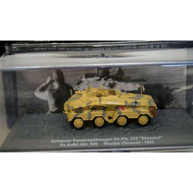 De Agostini Schw.Panzerspähwagen SD.Kfz 233 Stummel Pz.Aufkl.Abt.999 Rhodes 1943