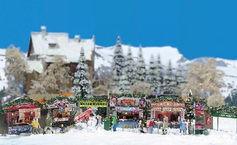 Weihnachtsbuden 2 Stück Busch H0 1060