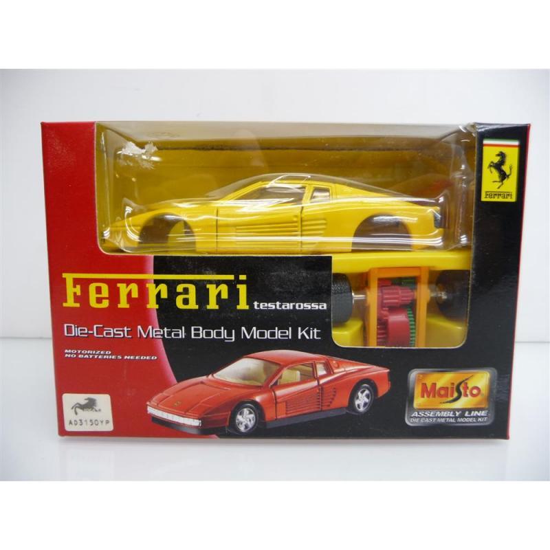 Ferrari testarossa gelb Die-Cast Metal Body Model Kit MINI BAUSATZ Neuware