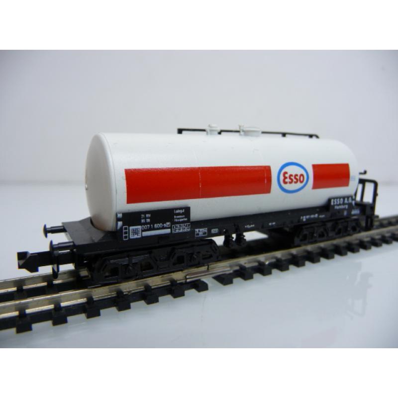 13552 Kesselwagen ESSO 007 1 600-9 4-achsig weiß / rot Minitrix N 1:160