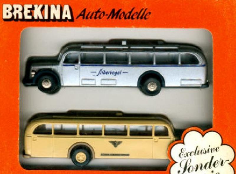 99 9000 Bus Doppelset 2x O-5000 Kleinb.Delm./Silbervogel Brekina