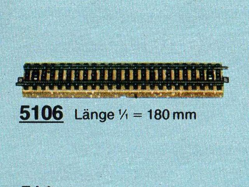 5106 Gerades Gleis 180mm