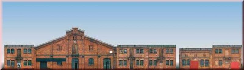 42506 Set mit 6 Industriefassaden Auhagen H0