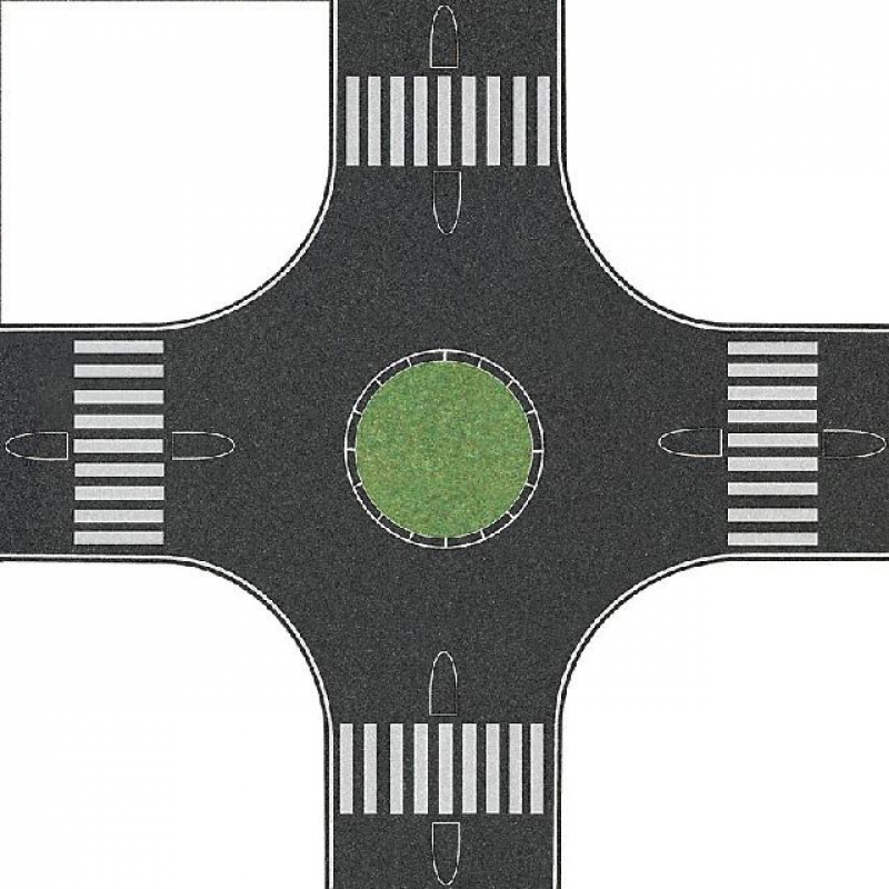 1101 Kreisverkehr Busch H0