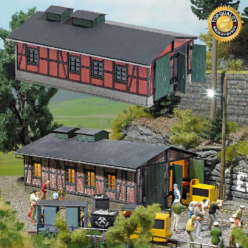 Lokschuppen für Grubenbahnen Busch H0 1475