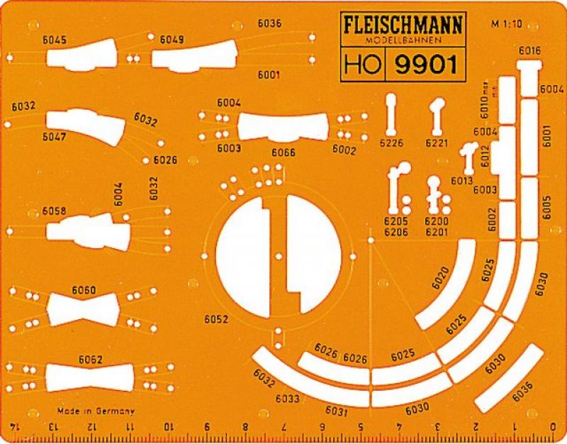 Fleischmann 9901 Gleisplanschablone H0