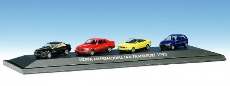 168038 Herpa Messemodell IAA Frankfurt 1993 Set mit 3 PKW