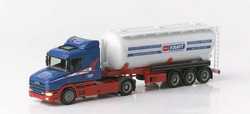 149136 Scania Hauber Silo-Sattelzug 40 cbm, Kraft Herpa H0