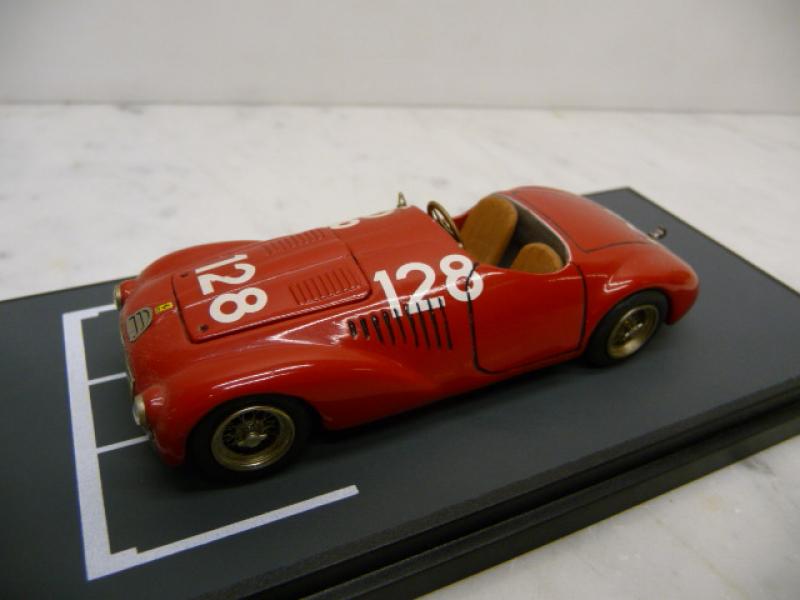 Ferrari 125S 1947 Piacenza #128 Weissmetall Handmade 1:43