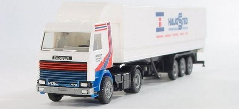 162722 Scania Planaufliegersattelzug Haugsted Herpa