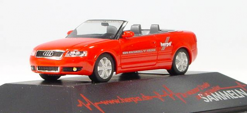 257336 Audi A4 Cabriolet Spielwarenmesse 2002 PC rot, Herpa