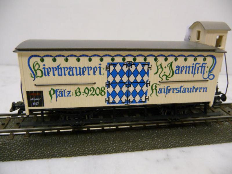 48921 Bierwagen mit Brhs Bierbrauerei Jaenisch Kaiserslautern Märklin H0