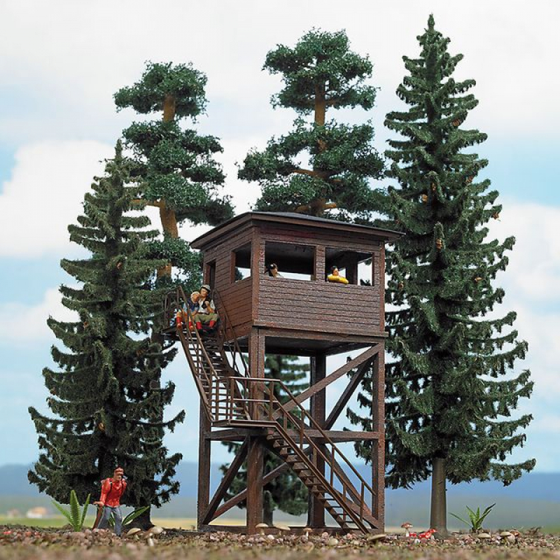 6394 Wald Set mit Aussichtsturm Busch