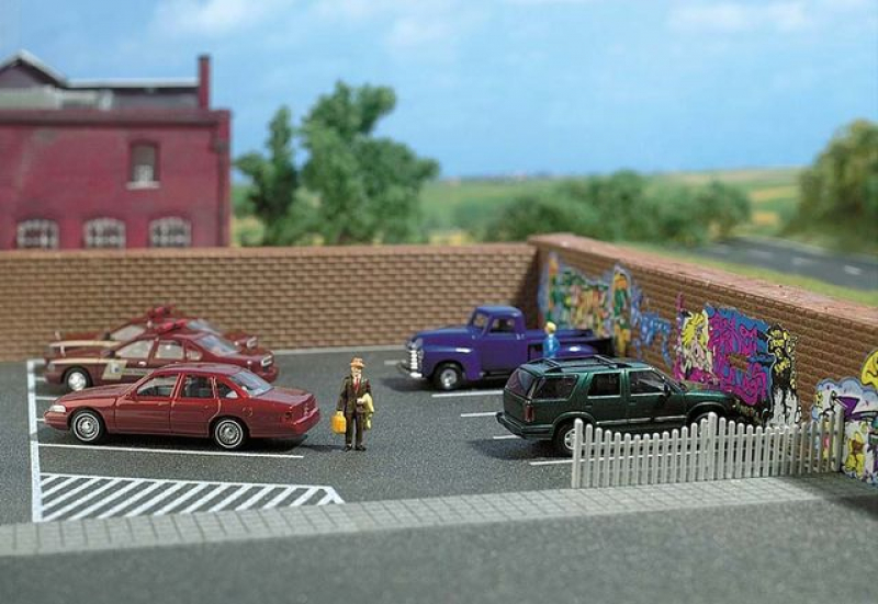 9713 Parkplatz H0 Busch