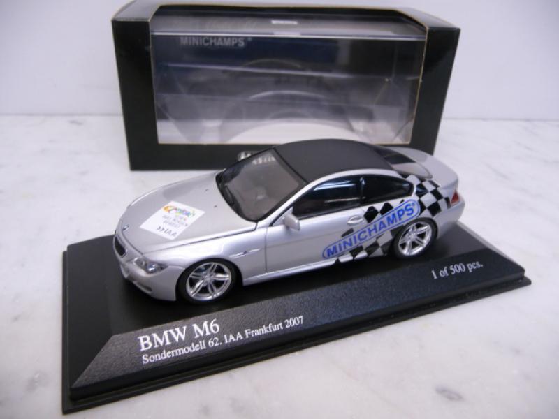 BMW M6 silbermetallic Messemodell IAA 2007 Minichamps PMA 1:43