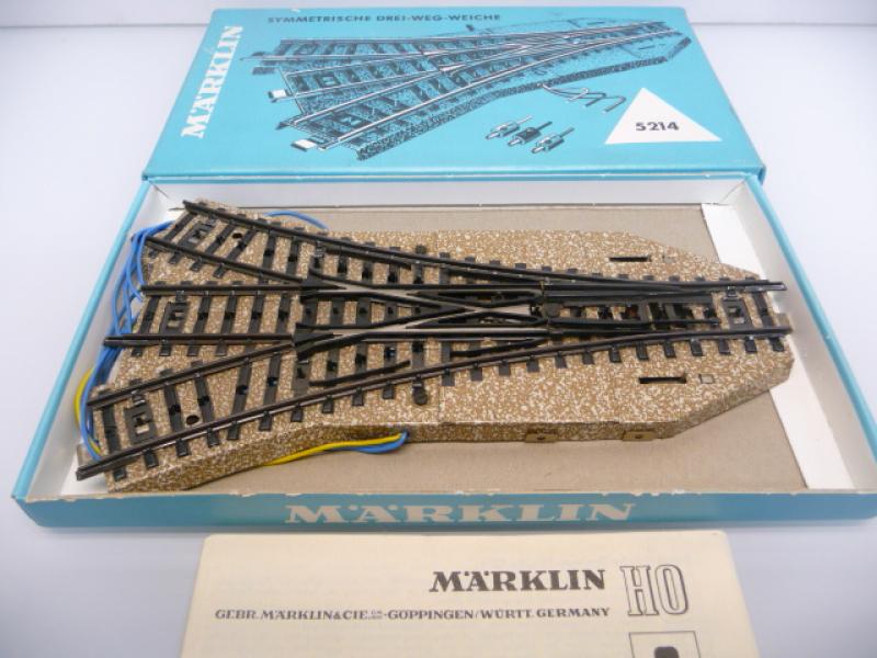 5214 M-Gleis Dreiwegweiche in Originalverpackung - Märklin H0