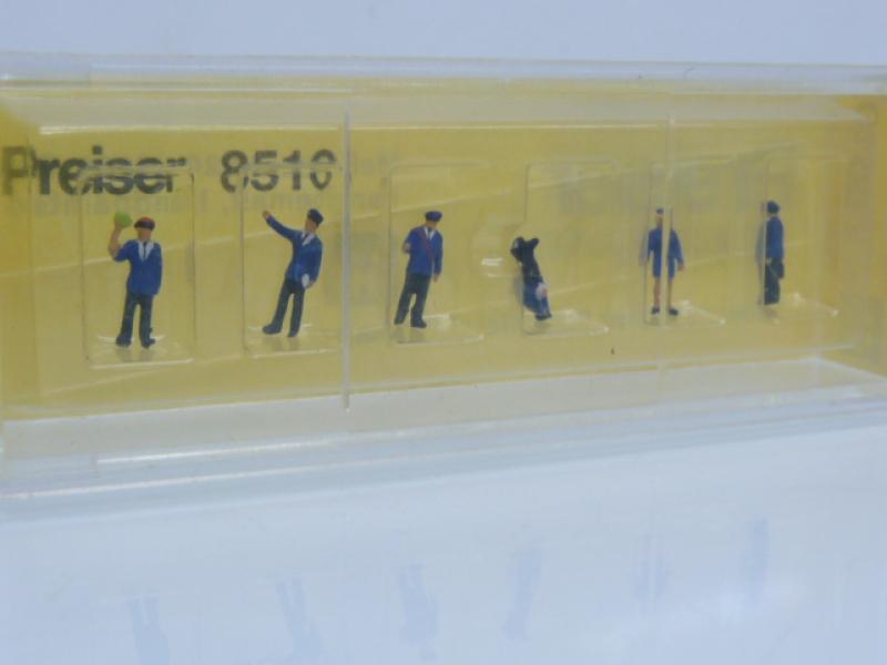 Bahnbedienstete 6 Figuren Preiser Z 8510