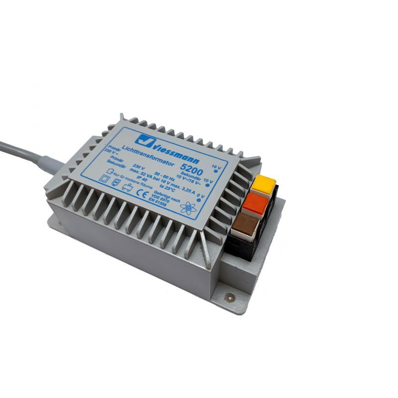 5200 Lichttransformamtor mit 2 Ausgängen 52 VA 10V und 16V - Viessmann