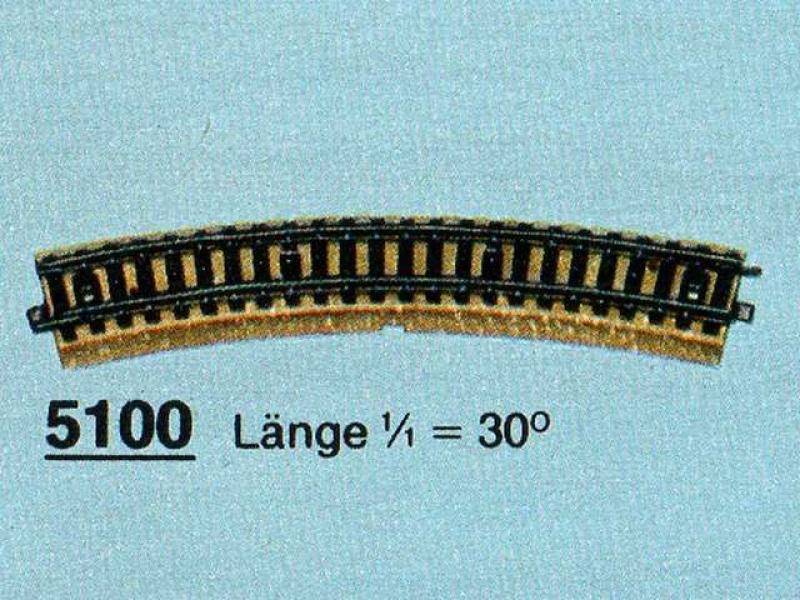 5100 Gebogenes Gleis R2 30 Grad