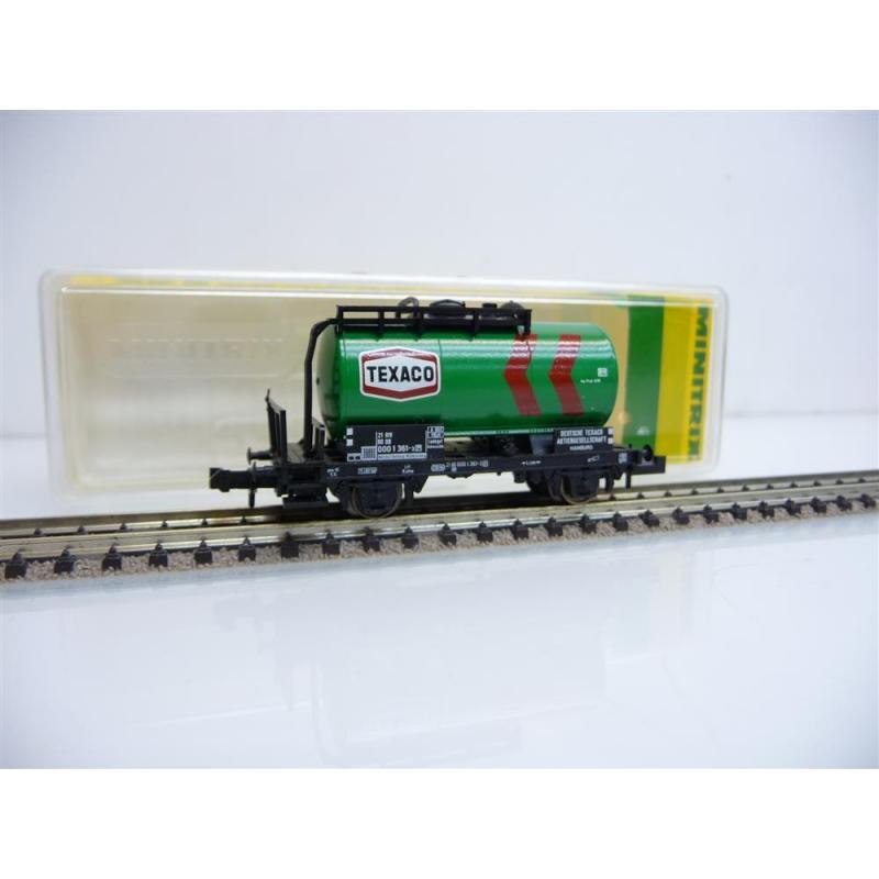13546 Kesselwagen 2-achsig TEXACO grün 000 1 361-3 Minitrix N