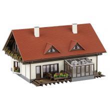 131549 Doppelhaus Moosgrund mit 174 Teilen in 4 Farben - Faller H0