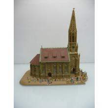 21965 Dom Kirche Stuttgart mit vielen Personen - Vollmer N