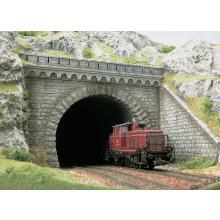 7023 Tunnelportal für 2 gleisige Strecke - Busch H0