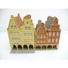 2-teiliges Althaus Set mit zweifacher Doppelhaushälfte und Ladenlokalen