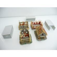 4-teiliges detailliertes Baustellen Set und 3 Hallen für Spur N