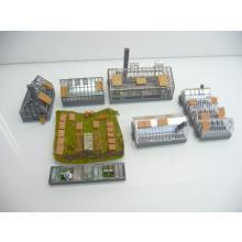 Garten Center 7-teiliges Set mit Gewächshäuser und vielen Details - Spur N
