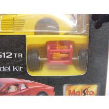 Ferrari 512TR gelb Die-Cast Metal Body Model Kit MINI BAUSATZ Neuware