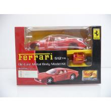 Ferrari 512TR rot Die-Cast Metal Body Model Kit MINI BAUSATZ Neuware