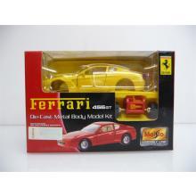 Ferrari 456GT gelb Die-Cast Metal Body Model Kit MINI BAUSATZ Neuware