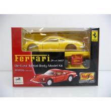 Ferrari 246GT gelb Die-Cast Metal Body Model Kit MINI BAUSATZ Neuware