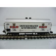 Minitrix N 13228 Bierwagen 2-achsig weiß Erste Kulmbacher Actienbrauerei - EKU