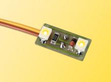 6017 Hausbeleuchtung mit LED warm gelb Viessmann H0