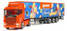 263566 Scania 124 Gardinenplanen-Sattelzug granini Herpa H0