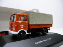 MB LP 608 Pr/Plane Feuerwehr Oberhausen Schuco 1:87