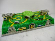 Blech Verkehrsspiel Achterbahn mit 6 Autos 50er Jahre