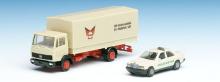 007547A Set mit MB LKW Koffer und MB Taxi Herpa