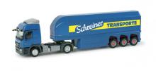 157179 MB Actros L Glastransport-Sattelzug Schreiner Herpa