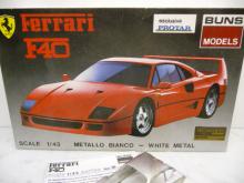 Ferrari F40 Weissmetall Kit PROTAR Buns Models 16 1:43