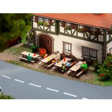4 Picknickbänke Faller H0 180304
