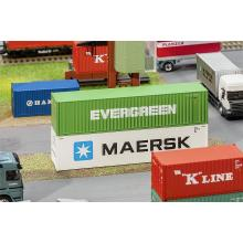 180846 40 Hi-Cube Container EVERGREEN - Faller H0
