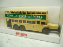 873 01 26 MB D 38 Doppeldecker-Bus VIVIL in OVP Wiking H0