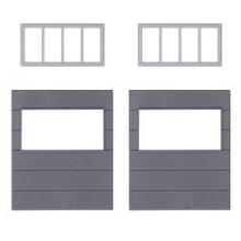 2 Wandelemente mit horizontalen Fenstern, Goldbeck Faller H0 180891