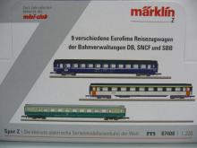 87408 Reisezugwagenset 2019 9-teilig Eurofima Maerklin - Neu in OVP